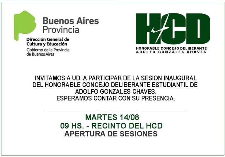 Comienza el ciclo 2018 del Concejo Deliberante Estudiantil de Gonzales Chaves